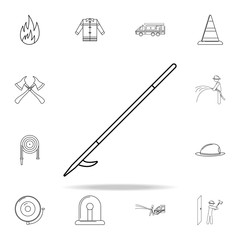 fire hook icon. Fireman icons universal set for web and mobile