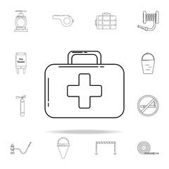 first aid bag icon. Fireman icons universal set for web and mobile