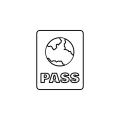 Passport icon. Simple outline vector of summer set for UI and UX, website or mobile application