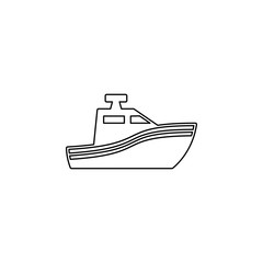 Boat glyph icon. Simple outline vector of summer set for UI and UX, website or mobile application