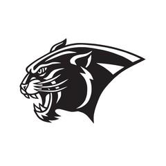 Black Panther Head Logo  Head Mascot Sports Team Vector Icon