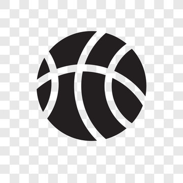 Basketball vector icon isolated on transparent background, Basketball transparency logo design