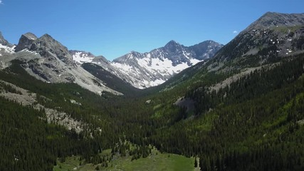 Wall Mural - 4k aerial drone footage.  Colorado Rocky Mountains, Sangre de Cristo range.