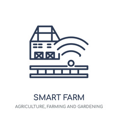 Smart farm icon. Smart farm linear symbol design from Agriculture, Farming and Gardening collection.