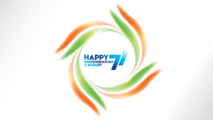 indian independence day design for greeting or banner or background