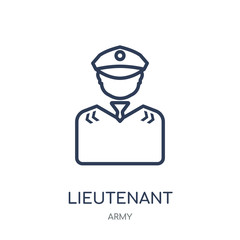 lieutenant icon. lieutenant linear symbol design from Army collection. Simple element vector illustration. Can be used in web and mobile.