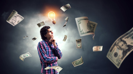 Ideas for money making. Mixed media