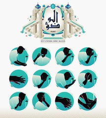 How to Perform islamic Ablution or Wudu, english version.