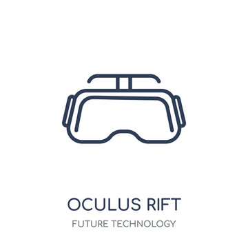 Oculus rift icon. Oculus rift linear symbol design from Future technology collection. Simple element vector illustration. Can be used in web and mobile.