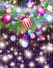 クリスマスの輝くデコレーション