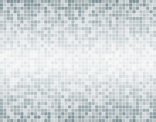 The Silver Grey Square Mosaic Tiles Background.