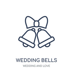 Wedding Bells icon. Wedding Bells linear symbol design from Wedding and love collection.