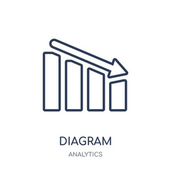 Diagram icon. Diagram linear symbol design from Analytics collection.
