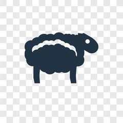 Sheep vector icon isolated on transparent background, Sheep transparency logo design