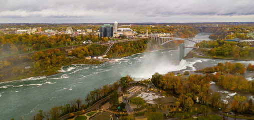 The Niagra River Cuts through the United States and Canada At American Falls