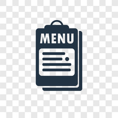 Menu vector icon isolated on transparent background, Menu transparency logo design