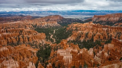 Beautiful view of one of the Utah Bryce Canyon