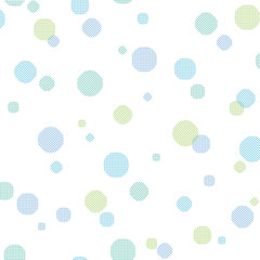 Pattern swatch, polka dots of grid (Blue).