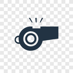 Whistle vector icon isolated on transparent background, Whistle transparency logo design