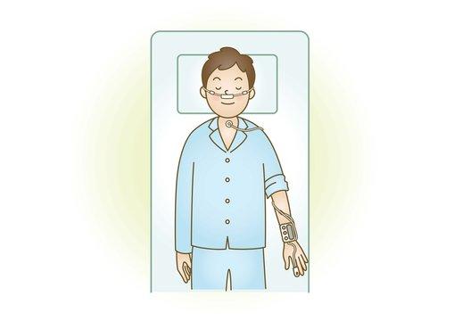医療イラスト:睡眠時無呼吸症候群