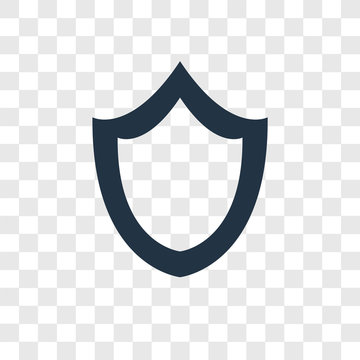 Shield vector icon isolated on transparent background, Shield transparency logo design