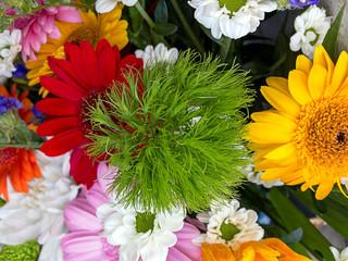 Flower arrangement up