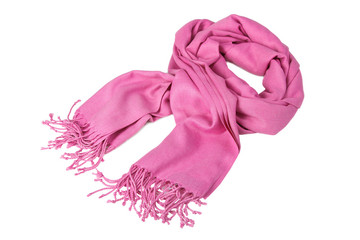 autumn pink scarf