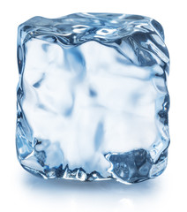 Ice cube. Macro shot. Clipping path.