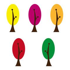カラフルな木々