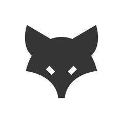 Fox logo illustration vector art, Creative Wild Animal in circle Logotype concept icon.