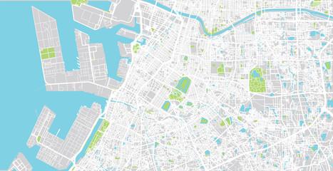 Urban vector city map of Sakai, Japan