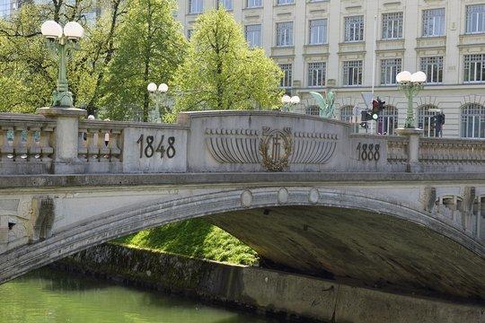Dragon Bridge, Zmajski most, Ljubljana, Slovenia, Europe