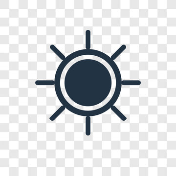 Sun vector icon isolated on transparent background, Sun transparency logo design