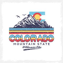 Background of Colorado Vector Clip Art