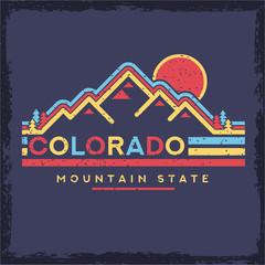 Design of Colorado Vector Clip Art