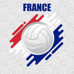 Volleyball France background