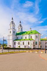 Bright shot of  Holy Spirit Cathedral in Minsk, Belarus