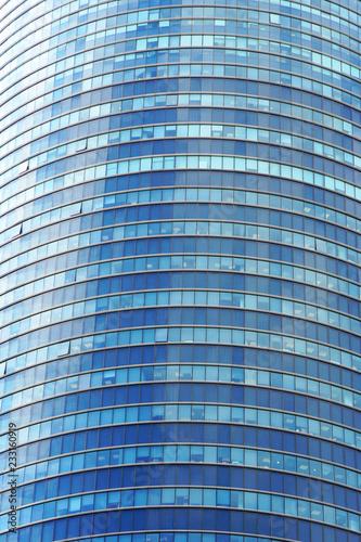 Glass Blue Square Windows Of Facade Modern City Business