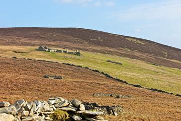A derelict hill croft on Bressay, Shetland, Scotland, UK.