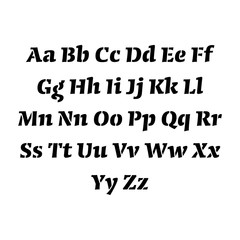 set of the stencil letters of english alphabet