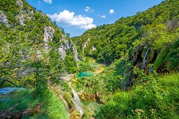Landscapes of Plitvice Lakes National Park (Plitvicka jezera nacionalni park), Croatia