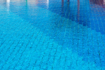 Background with a Blue Water in a Swimming Pool