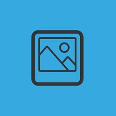 picture icon. flat design
