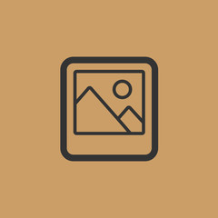 picture icon. flat design