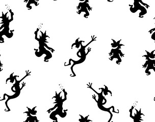 Clowns Party Black Texture Pattern