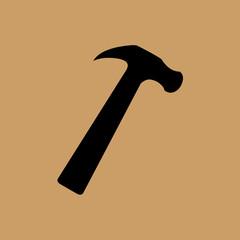 claw hammer icon. flat design