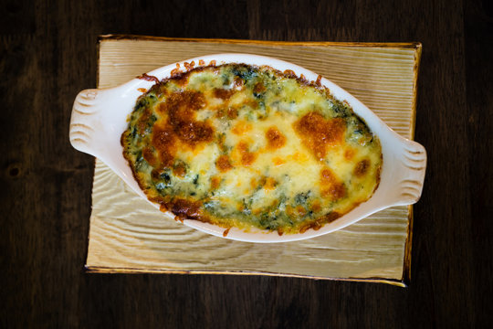 bake spinach with cheese