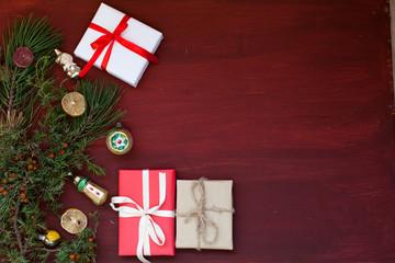 Christmas background Christmas tree Gifts Christmas decorations holiday