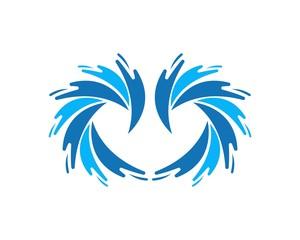 Waves of sea or ocean waves,blue water, splash vector illustration