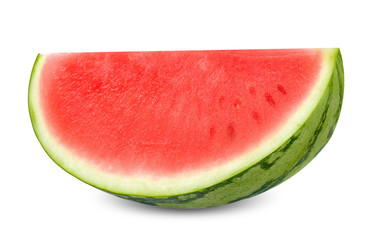 Slice watermelon isolated on white clippint path